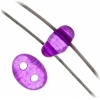 Twin 2-hole Bead 2.5x5mm Transparent Amethyst Dyed